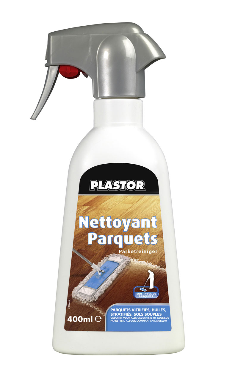 nettoyant parquet plastor spray 400ml pour usage quotidien sur tous types de parquets. Black Bedroom Furniture Sets. Home Design Ideas