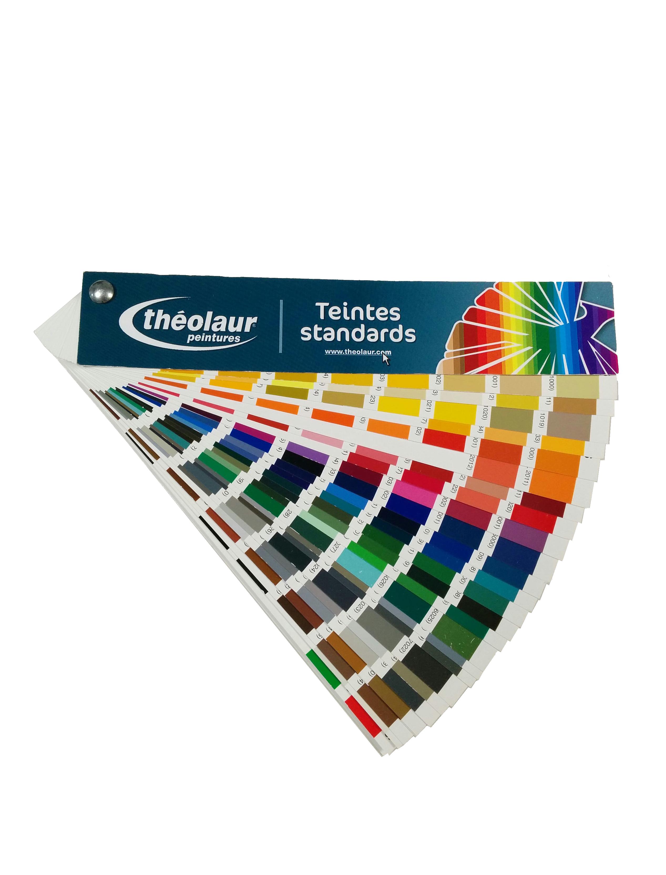 nuancier des couleurs de peinture ral