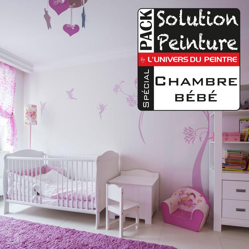 Pack solution peinture pour peindre une chambre de bébé ou jeune ...