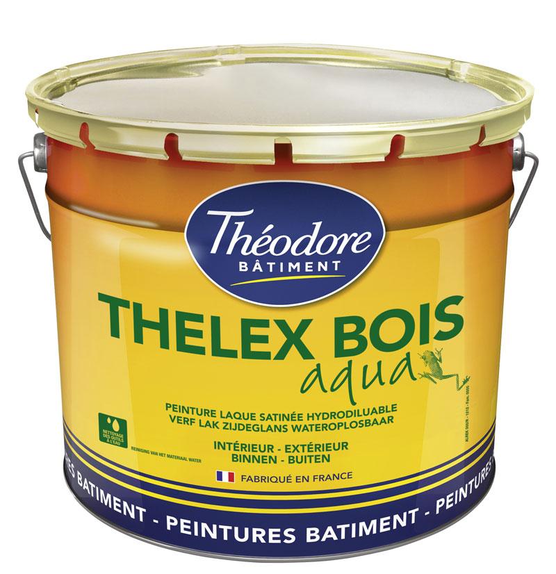 thelex bois aqua 12l peinture laque satin e int rieure et ext rieure pour la protection du bois. Black Bedroom Furniture Sets. Home Design Ideas