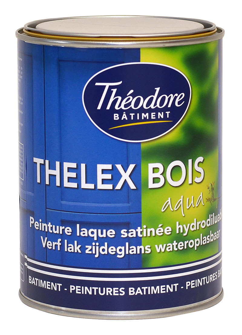 thelex bois aqua 1l peinture laque satin e int rieure et ext rieure pour la d coration et la. Black Bedroom Furniture Sets. Home Design Ideas