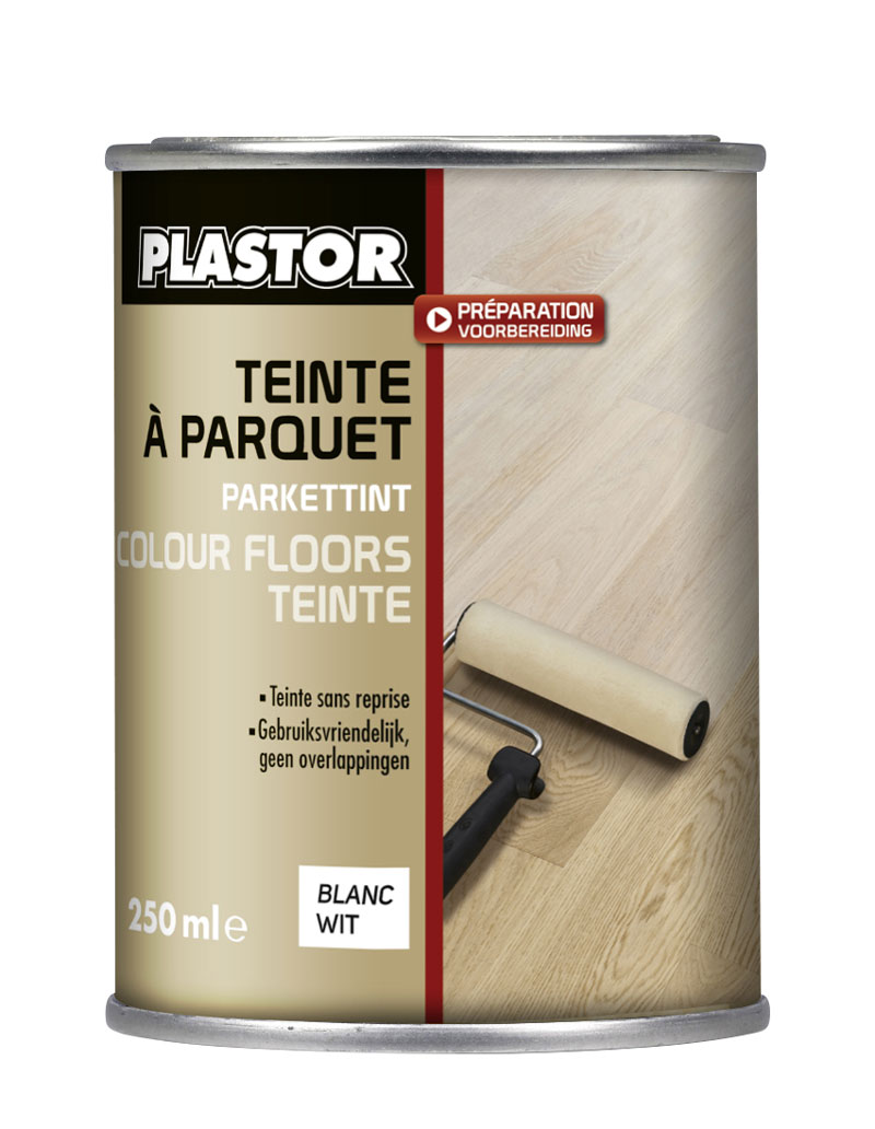 colour floors teinte parquet blanc plastor 0 25l colore intens ment votre parquet en blanc. Black Bedroom Furniture Sets. Home Design Ideas