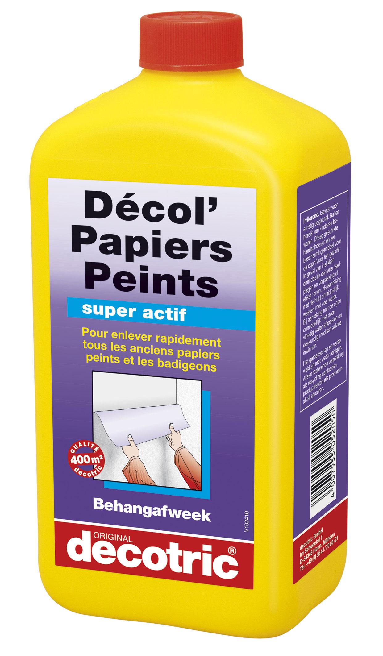 Décol' Papiers Peints (1L) : Décolle rapidement et efficacement tous les anciens papiers peints ...
