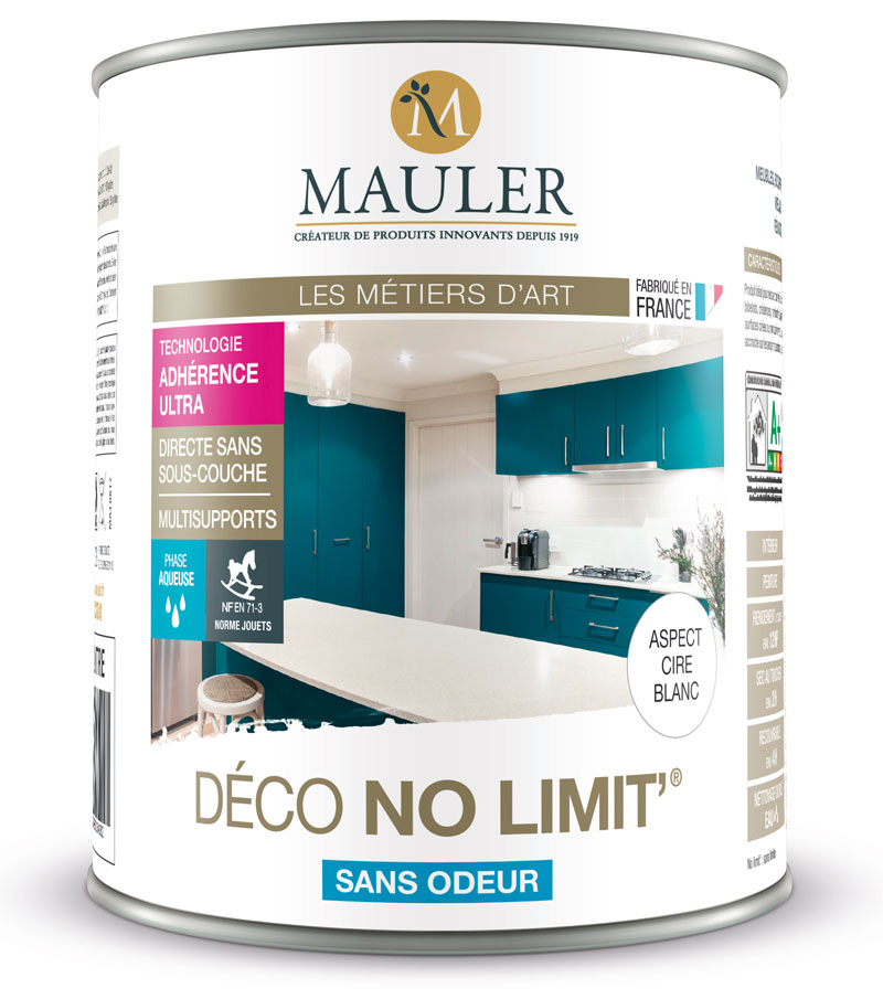 peinture multisupports mauler deco no limit 2 5l id ale pour r nover meubles et tous. Black Bedroom Furniture Sets. Home Design Ideas