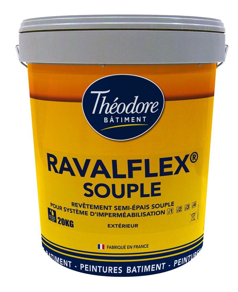 ravalflex souple 20kg rev tement souple pour syst me d imperm abilisation des fa ades i1 i4. Black Bedroom Furniture Sets. Home Design Ideas